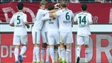 Bayer 04 Leverkusen players celebrate