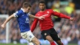 Seamus Coleman (Everton FC) & Fraizer Campbell (Cardiff City AFC)