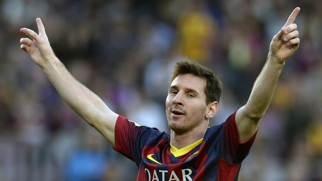 Messi sets record in emphatic Barcelona win