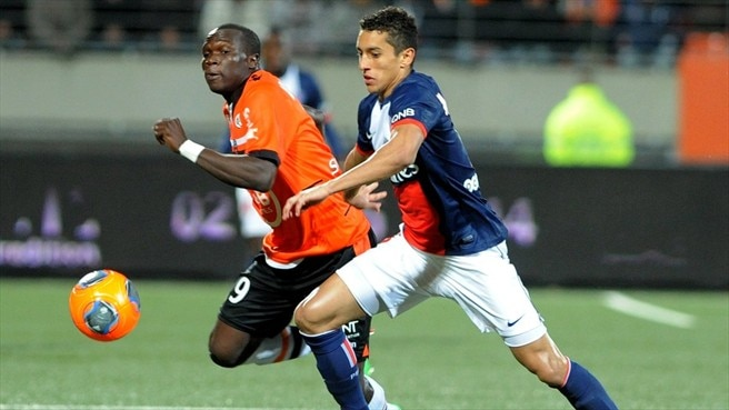 Vincent Aboubakar (FC Lorient) & Marquinhos (Paris Saint-Germain)