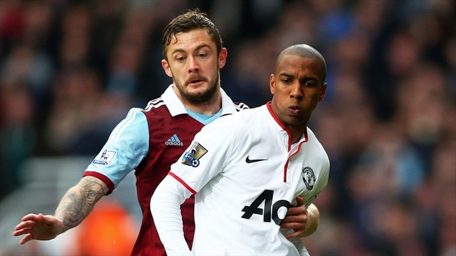 George McCartney (West Ham United FC) & Ashley Young (Manchester United FC)