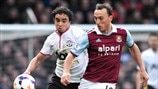 Rafael (Manchester United FC) & Mark Noble (West Ham United FC)