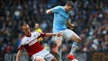 Steve Sidwell (Fulham FC) & James Milner (Manchester City FC)