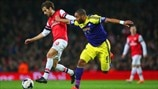Mathieu Flamini (Arsenal FC) & Ashley Williams (Swansea City AFC)