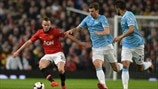 Tom Cleverley (Manchester United FC) & Edin Džeko (Manchester City FC)