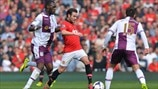Juan Mata (Manchester United FC), Christian Benteke & Ashley Westwood (Aston Villa FC)
