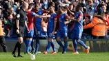 Crystal Palace FC players celebrate
