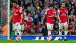 Arsenal FC players react