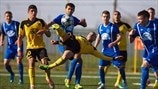 Action from match between FC Sheriff and FC Dinamo-Auto