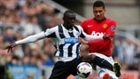Papiss Cissé (Newcastle United FC) & Chris Smalling (Manchester United FC)
