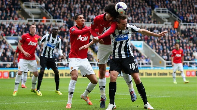Chris Smalling & Marouane Fellaini (Manchester United FC), Luuk de Jong (Newcastle United FC)