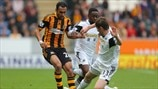 Ahmed Al-Muhammadi (Hull City AFC) & Ben Davies (Swansea City AFC)