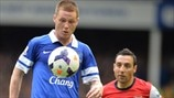 James McCarthy (Everton FC) & Santi Cazorla (Arsenal FC)