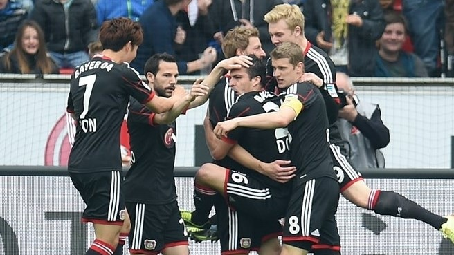 Leverkusen back in fourth after beating Hertha