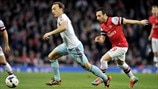 Mark Noble (West Ham United FC) & Santi Cazorla (Arsenal FC)