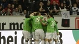 Hannover 96 players celebrate