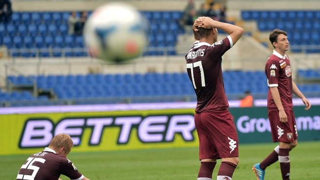 Torino FC players react