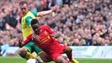 Steven Whittaker (Norwich City FC) & Raheem Sterling (Liverpool FC)