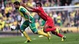 Bradley Johnson (Norwich City FC) & Raheem Sterling (Liverpool FC)