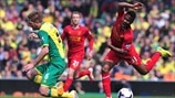 Michael Turner (Norwich City FC) & Raheem Sterling (Liverpool FC)