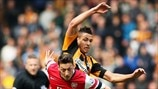 Mesut Özil (Arsenal FC) & Jake Livermore (Hull City AFC)
