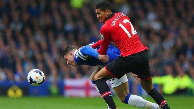 Ross Barkley (Everton FC) & Chris Smalling (Manchester United FC)