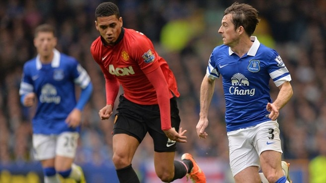 Chris Smalling (Manchester United FC) & Leighton Baines (Everton FC)