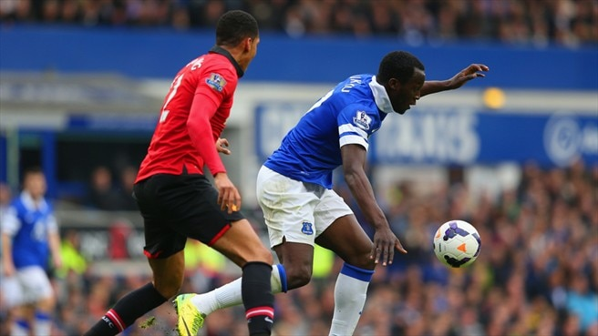 Chris Smalling (Manchester United FC) & Romelu Lukaku (Everton FC)