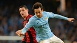 Graham Dorrans (West Bromwich Albion FC) & David Silva (Manchester City FC)