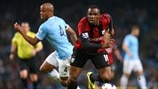 Vincent Kompany (Manchester City FC) & Victor Anichebe (West Bromwich Albion FC)