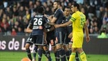 Olympique de Marseille players celebrate