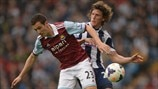 Stewart Downing (West Ham United FC) & Billy Jones (West Bromwich Albion FC)