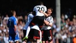 Fulham FC players celebrate
