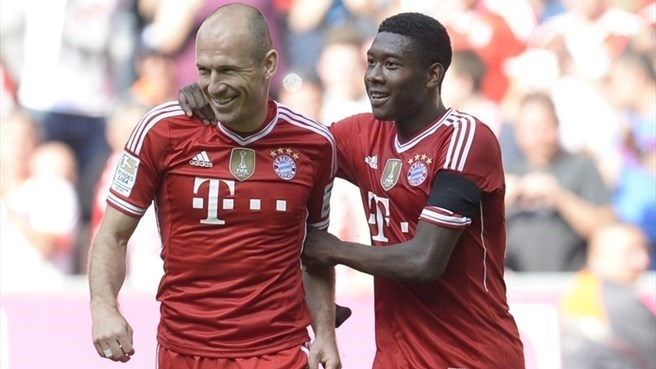 Robben, Alaba banking on Bayern's Munich factor