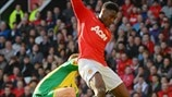 Steven Whittaker (Norwich City FC) & Danny Welbeck (Manchester United FC)