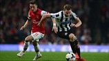 Mesut Özil (Arsenal FC) & Paul Dummett (Newcastle United FC)