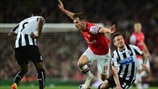 Aaron Ramsey (Arsenal FC), Vurnon Anita & Mathieu Debuchy (Newcastle United FC)