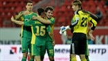 FC Kuban Krasnodar players celebrate