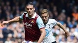 Andy Carroll (West Ham United FC) & Michael Dawson (Tottenham Hotspur FC)