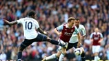 Emmanuel Adebayor (Tottenham Hotspur FC) & Mark Noble (West Ham United FC)