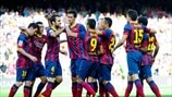 FC Barcelona playerc celebrate
