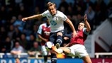 Harry Kane (Tottenham Hotspur FC) & James Tomkins (West Ham United FC)