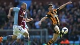 Ron Vlaar (Aston Villa FC) & Shane Long (Hull City AFC)