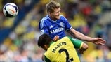 André Schürrle (Chelsea FC) & Russell Martin (Norwich City FC)