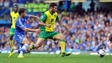 Eden Hazard (Chelsea FC) & Bradley Johnson (Norwich City FC)