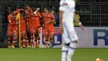 FC Lorient players celebrate