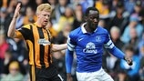 Paul McShane (Hull City AFC) & Romelu Lukaku (Everton FC)