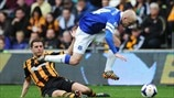 Alex Bruce (Hull City AFC) & Steven Naismith (Everton FC)