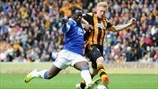 Romelu Lukaku (Everton FC) & Paul McShane (Hull City AFC)