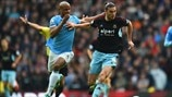 Vincent Kompany (Manchester City FC) & Andy Carroll (West Ham United FC)